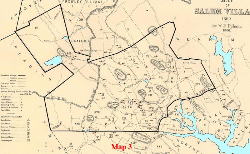 salem witch trials map Geo Witchcraft salem witch trials map