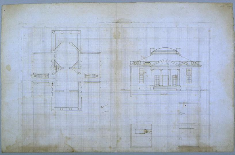 Barboursville Plan And Elevation
